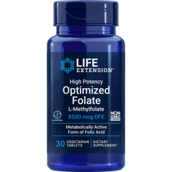 Life Extension L-Methylfolate 8500 mcg 30 vtabs