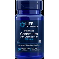Life Extension Chromium 500 mcg z Crominex® 3+ 60 vcaps