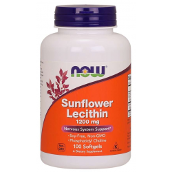 Now Foods Sunflower Lecithin 1200 mg 100 sgels