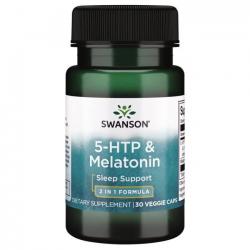 Swanson 5-HTP & Melatonin 50mg/3mg 30 vcaps